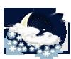mäßiger od. starker Schnee-schauer