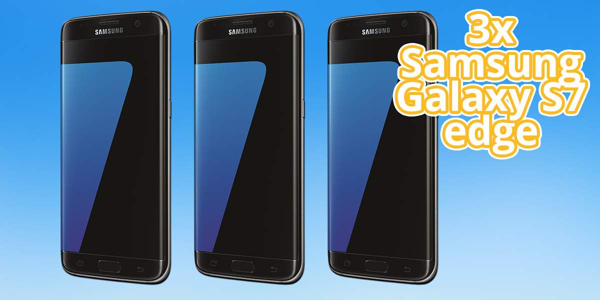 3x Samsung Galaxy S7 edge